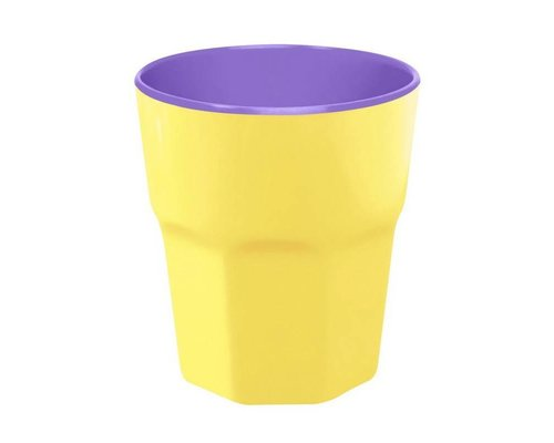 Pastel Colours Two Tone Large Melamine Cup - Yellow