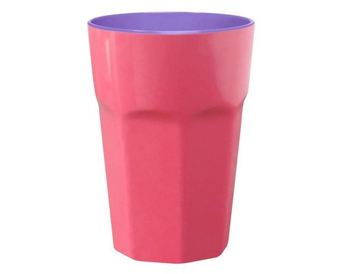 Pastel Colours Two Tone Extra Large Melamine Cup - Coral