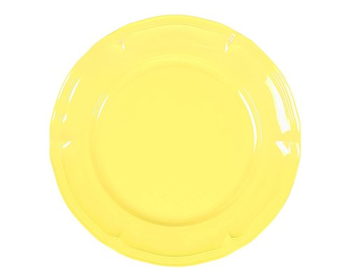Pastel Colours Vintage Melamine Lunch Plate - Yellow