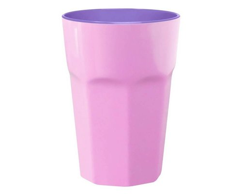 Pastel Colours Two Tone Extra Large Melamine Cup - Pink