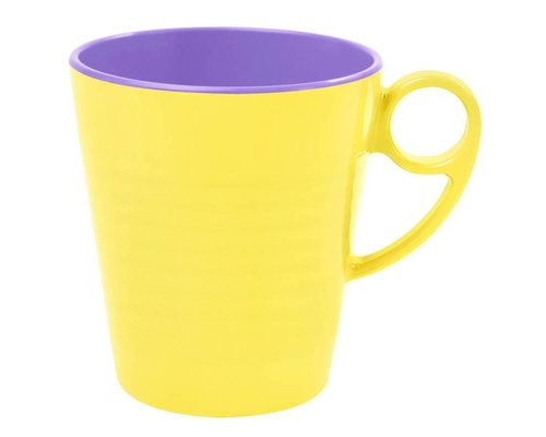 Pastel Colours Two Tone Melamine Mug - Yellow
