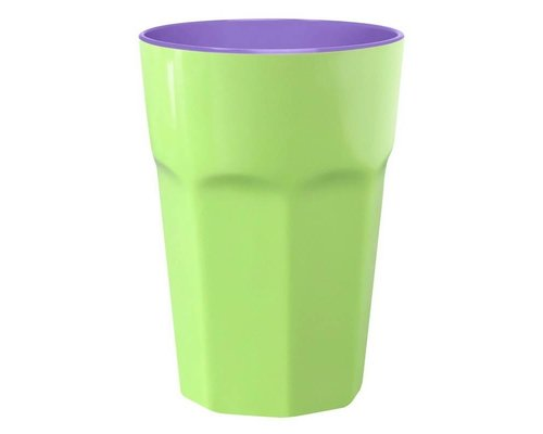 Pastel Colours Two Tone Extra Large Melamine Cup - Green