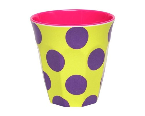 Happy Dots Medium Melamine Cup - Yellow
