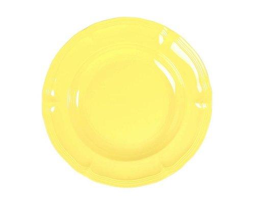 Pastel Colours Vintage Melamine Soup Plate - Yellow