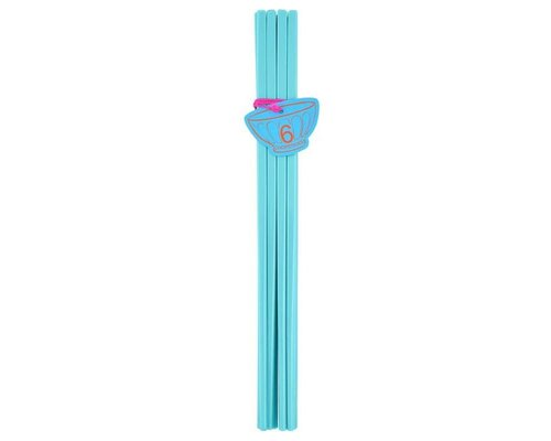 Pastel Colours 6 pairs Melamine Chopsticks - Blue