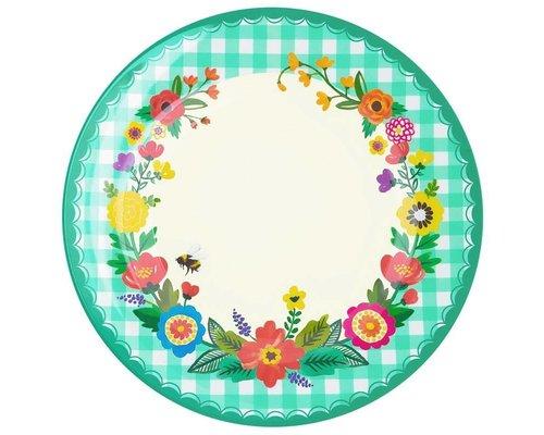 Grandmothers Garden Melamine Dinner Plate