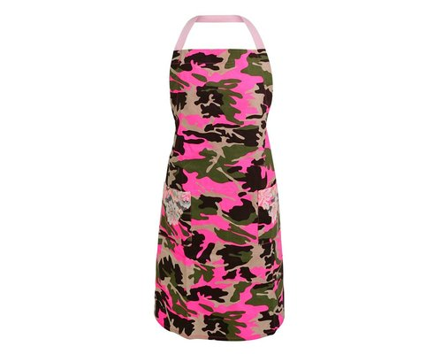 Funky Army Apron - Pink