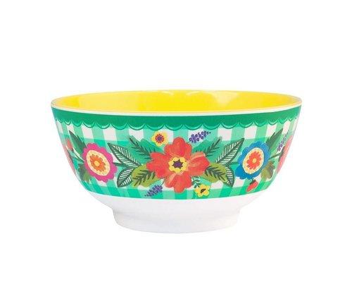 Grandmothers Garden Medium Melamine Bowl
