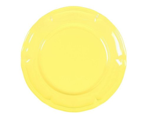 Pastel Colours Vintage Melamine Dinner Plate - Yellow