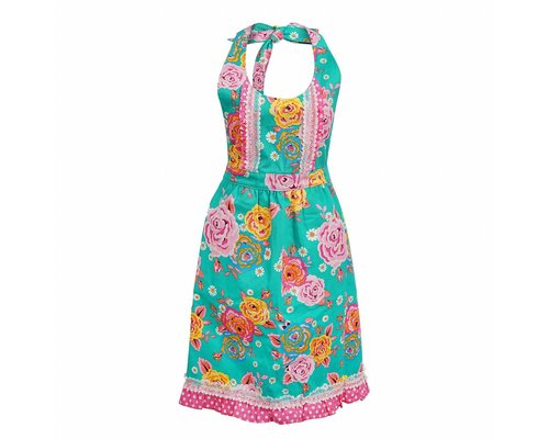 Asian Vintage Flower Apron