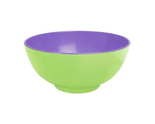 Pastel Colours Two Tone Large Melamine Bowl - Green