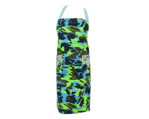 Funky Army Apron - Green