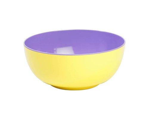 Pastel Colours Two Tone Melamine Salad Bowl - Yellow