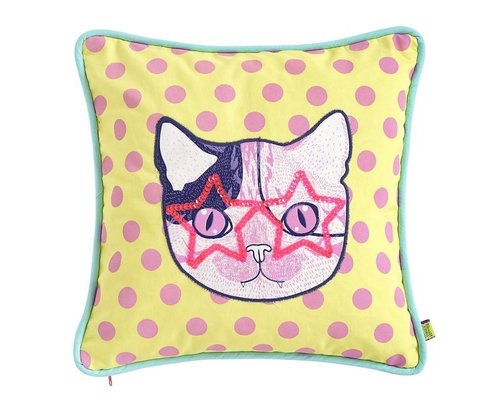 Cat Rock & Roll Cushion