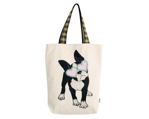Bull Dog Rock & Roll Tote Bag