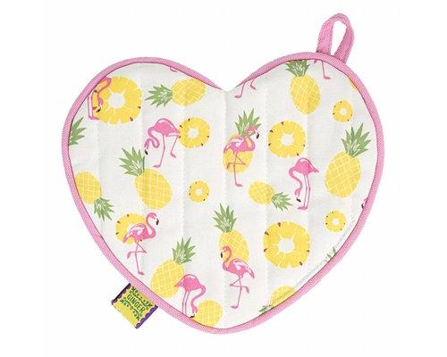 Pineapple & Flamingo Heart Pot Holder