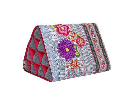 Go Tribal Triangle Cushion - Blue