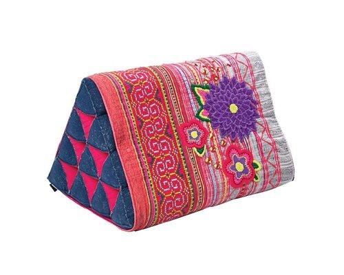 Go Tribal Triangle Cushion - Red