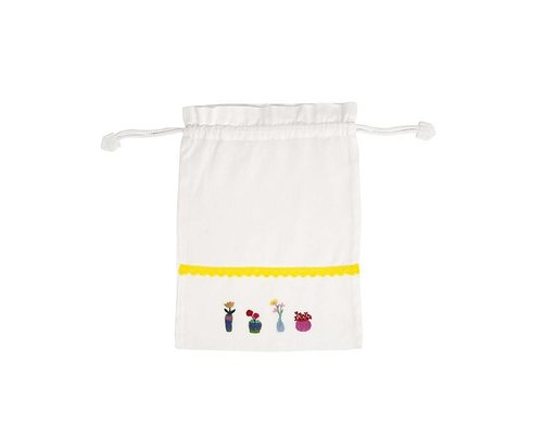 Plant&Cactus Drawstring bag - Yellow Ribbon