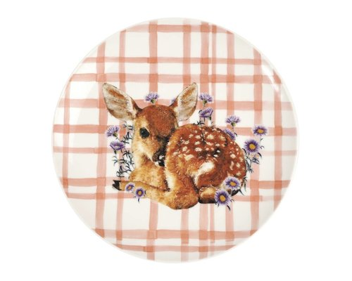 Forest Life Ceramic Lunch Plate - Deer