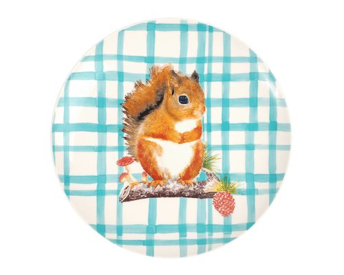 Forest Life Ceramic Lunch Plate - Squirrel