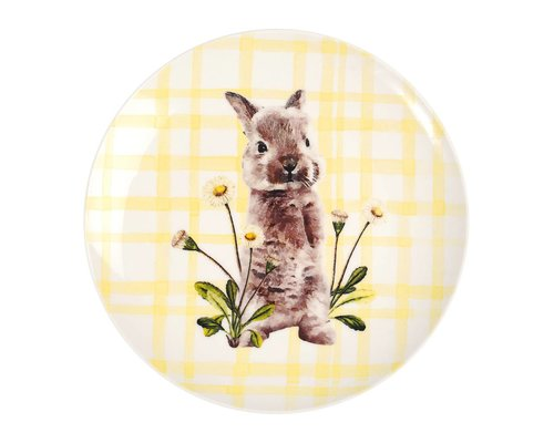 Forest Life Ceramic Lunch Plate - Rabbit
