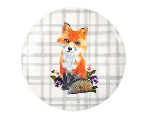 Forest Life Ceramic Lunch Plate - Fox
