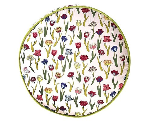 Flower Rain Large Round Floor Cushion