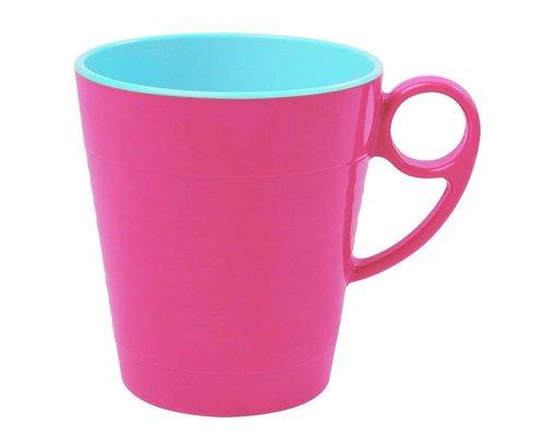 Funky Neon Two Tone Melamine Mug - Ultra Pink