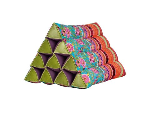 Oriental Garden Large Triangle Cushion