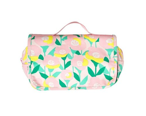 Happy Summer Poppy in Pink Toiletry Bag