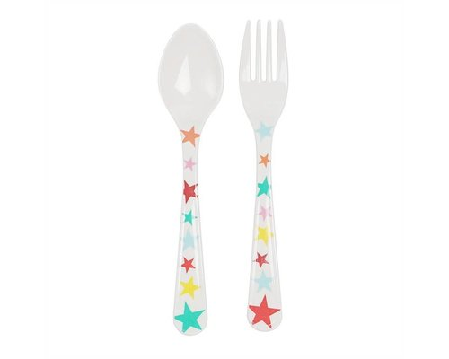 A Day at The Circus Melamine Spoon and Fork