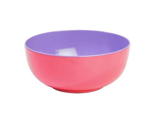 Pastel Colours Two Tone Melamine Salad Bowl - Coral