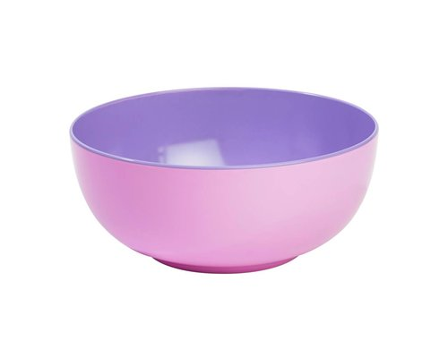 Pastel Colours Two Tone Melamine Salad Bowl - Pink