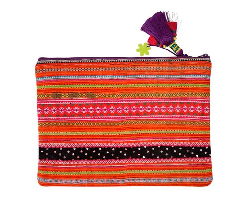 Hill Tribe Large Zip Pouch
