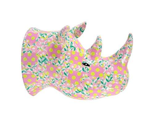 Wall Hanging Rhino - Poppy in Pink