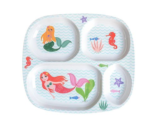 Delightful Mermaid Melamine Compartment Plate