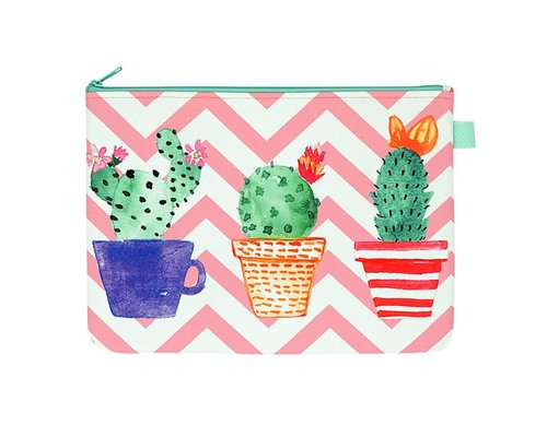 Lovely Cactus Zip Pouch