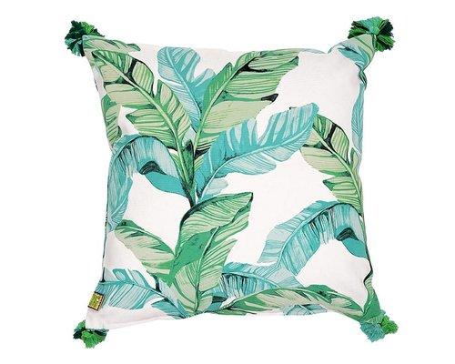 Tropical Paradise Found Cushion Green