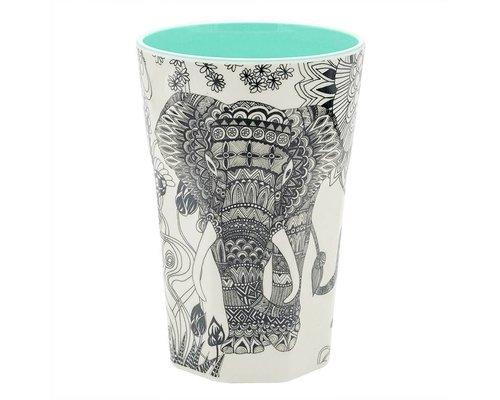 My World Too Elephant Extra Large Melamine Cup