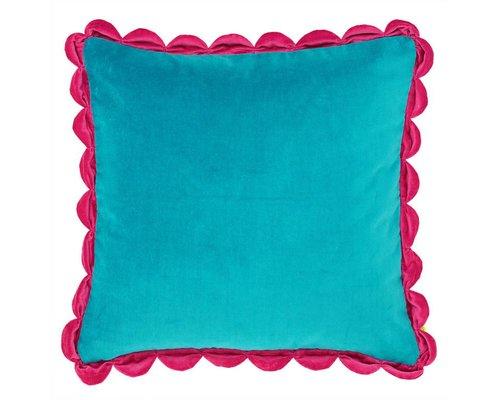 Velvet Cushion - Blue