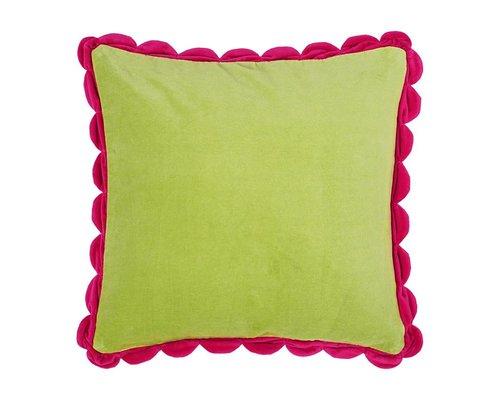 Velvet Cushion - Green