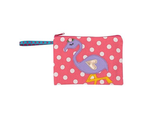 So Pretty Flamingo Zip Pouch
