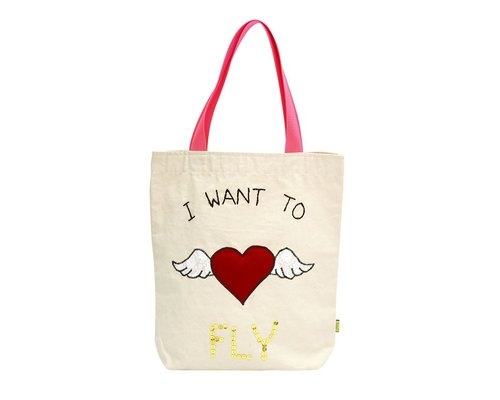Tote bag - I want to Fly