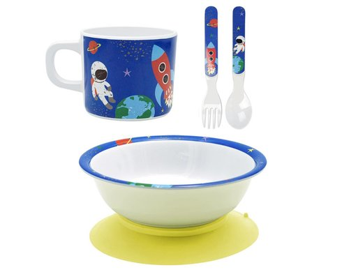 Happy in Space Melamine baby set