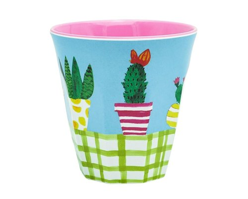 Lovely Cactus Medium Melamine Cup
