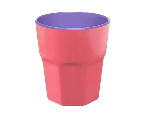 Pastel Colours Two Tone Large Melamine Cup - Coral