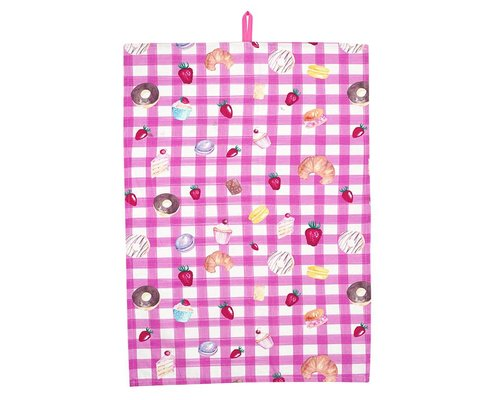 Bakery Tea Towel - Pink