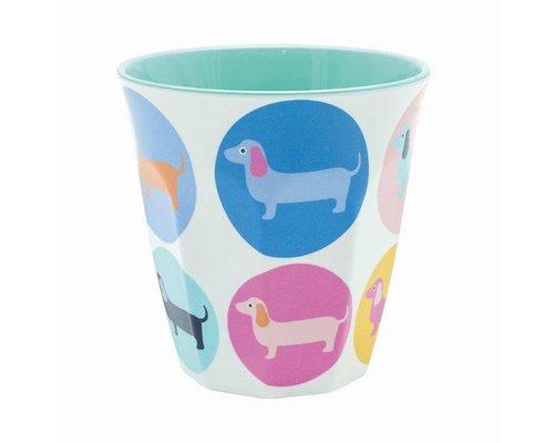 Happy Sausage Dog  Medium Melamine Cup