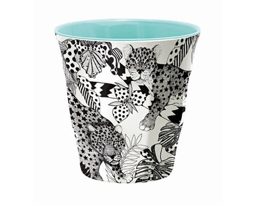 My World Too Leopard Medium Melamine Cup